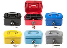 Geldkassette Mini Metall 12,5x9,5x6cm Tresor Safe Kinder Spardose 2 Schlüsseln