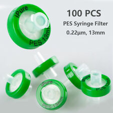 100x PES Syringe Filter 0.22μm, 13mm diameter, Prefilter Glass fiber Hydrophilic