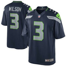 Nike NFL Seattle Seahawks Wilson American Football Game Jersey in Navy Blue  S d7bccd1fa0bd7