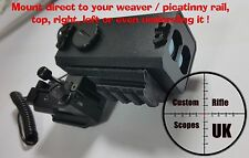 weapon mountable rangefinder plus universal mount, full kit that zero's to scope