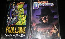 DANGER DANGER 2xCassette Lot Paul Laine Canadian Hard Rock STICK IT IN YOUR EAR