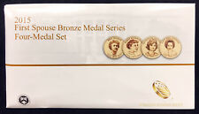 2015 First Spouse Bronze Medal Set -- Four Medals in Original Mint Packaging