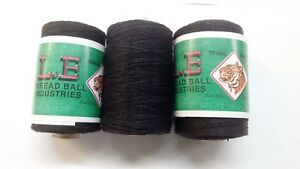 100% Cotton Heavy Duty Black Threads For Leather Tent Canvas Flag Tent Repair UK