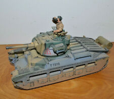 "FORCES OF VALOR UK INFANTRY TANK 1:32 Scale Diecast Unimax 2003 7.5"" Long"