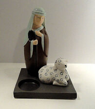 Partylite Christmas Shepard and Lamb / Sheep Votive Candle Holder