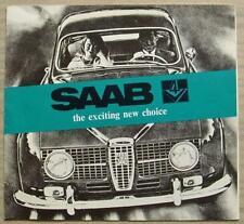 SAAB V4 Car Sales Brochure 1967 #F30072 24,000 8.66