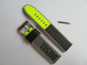 DIESEL Original Ersatzband Nylon DZ1902 Uhrband grau neon watch strap 22 mm