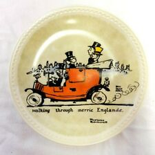 Newall Norman Rockwell On Tour Walking Merrie Englande Collector Plate Ltd. Ed.