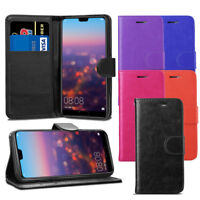 For Huawei P20 Pro / Plus CLT-L09, L29 - Premium Leather Wallet Flip Case Cover