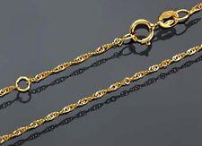 ECHT GOLD *** Feine gedrehte Singapur Kette 38-40 cm verstellbar