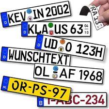Zettelhalter Memo Halter Magnet dein Kfz-Kennzeichen Wunschtext für Magnettafel
