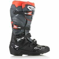 2019 Alpinestars Tech 7 Enduro Boots - Black Grey Red