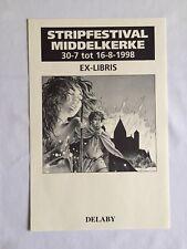 DELABY EX LIBRIS BD ETOILE POLAIRE - STRIPFESTIVAL MIDDELKERKE 1998