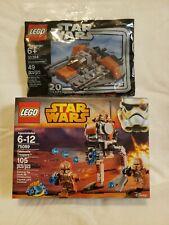 New LEGO STAR WARS 75089 Geonosis Troopers 4 figures weapons & 30384 Snowspeeder