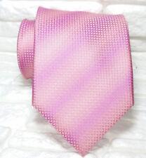 Cravatta uomo rosa regimental design TOP Quality NOVITÀ Made in Italy 100% seta