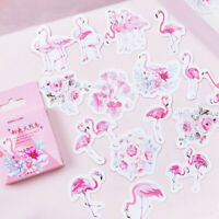 45pcs pink flamingo paper decor diy diary scrapbooking label sticker NH