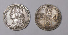1750 GREAT BRITAIN SILVER SHILLING BOLD CRISP ABOUT UNCIRCULATED INV#FP-1-55