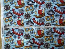 fabric Pirates Hat Treasure Chest Ships Wheel Anchor and More BHY