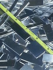 aluminum welding cupons 200 pieces shiny metal pieces .040 18 ga thick art craft
