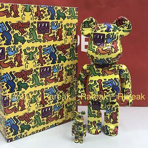 Medicom Bearbrick 2020 Keith Haring Ver.# 5 Painting 400% + 100% be@rbrick Set