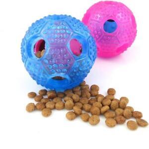 Dog Pet Food Dispenser Feeder Toy Ball Cat Puppy Slow Treat Training Interactive