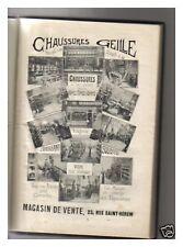AGENDA  1914 CHAUSSURE GEILLE CLERMONT FERRAND