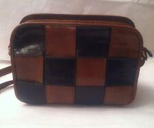 """LEDERER de PARIS Leather """"WOVEN"""" Handbag/Shoulder Bag/Cross Body /Vintage"""