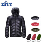 Down Jacket Men Winter Hooded Packable Ultra Lightweight Outwear Coat Hoodies