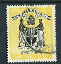 British Central Africa BCA QV 1895 3s black & yellow SG27 fine used
