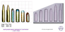 GUN BULLETS-MULTI Craft Sugarcraft Resin Wax Sculpey Silicone Rubber Mould