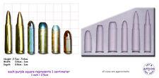 GUN BULLETS-MULTI Craft Sugarcraft Resin Wax Sculpey Silicone Rubber Mould