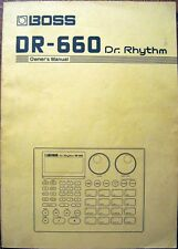 Roland Boss DR-660 Dr Rhythm Drum Machine Original Owner's Manual Book