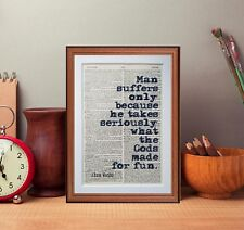 Alan Watts quote dictionary page literary art print  gift book