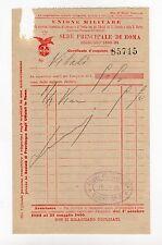 fattura antica - UNIONE MILITARE 1893