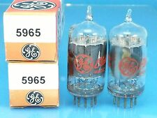 GE 5965 12AV7 CLEAR TOP VACUUM TUBE MATCH PAIR 1963 COPPER SUPER SWEET TONE G20