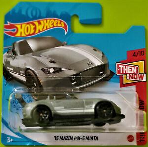 2021 HOT WHEELS THEN AND NOW 4/10 #129 '15 MAZDA MX-5 MIATA - SHORT CARD
