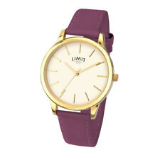 Limit Ladies Gold Plated Quartz Watch with Berry Strap 6235