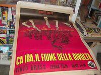 Ca Ira el Río de Rivolta Manifesto 2F Original 1964 Teñido Brass