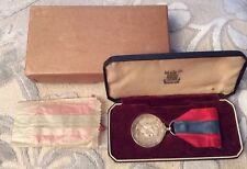 Boxed QEII Solid Silver Imperial Service Medal Presented to Percy Edward May