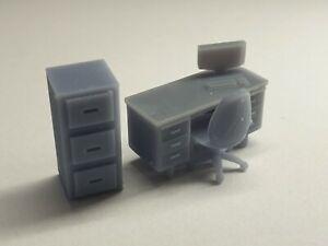 1/64 Scale Resin Office Furniture Pack Hot Wheels Matchbox Diorama