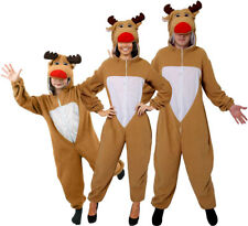REINDEER COSTUME ADULT CHILDS CHRISTMAS FANCY DRESS FAMILY OUTFIT RUDOLPH SUIT