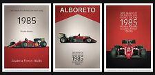 1985 FERRARI 156/85 F1 Michele Alboreto Fine Art Print Poster Ltd Ed 250 SET 3