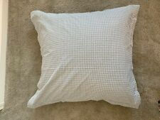 MARTHA STEWART Macys Euro Sham Houndstooth Pattern Gray White Brushed Cotton NEW
