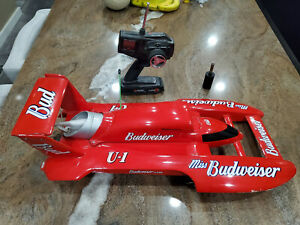 Proboat Miss Budweiser Classic RC Hydroplane Boat w/Remote ~ NITRO - Tested