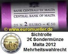 Malta Rolle 2 Euro Gedenkmünze 2012 - Mehrheitswahlrecht