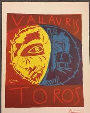 Vintage,Poster,1957 Offset Lithograph Platesigned 1956 Toros PABLO PICASSO