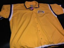 Los Angeles LAKERS Warm Up Jacket LARGE Vintage 80s 90s Mitchell And Ness NWT 56