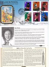 KEN DODD HAND SIGNED PUNCH AND JUDY BLACKPOOL COVER AND POSTMARK 4/9/01