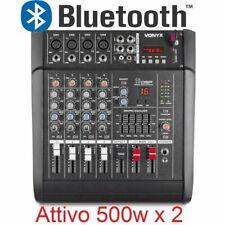 MIXER AUDIO AMPLIFICATO 1000W 5 canali CON EFFETTI FX DSP+ USB dj pianobar