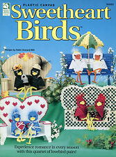 Sweetheart Birds ~ 4 Bird Pairs ~ Cardinal Crow & More plastic canvas patterns